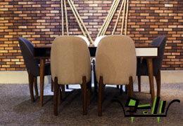 میز ناهار خوری مدل کارلوس با صندلی باران